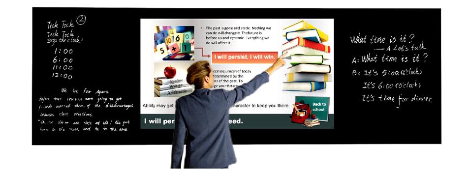 智慧纳米黑板渗透教学中的每一个环节